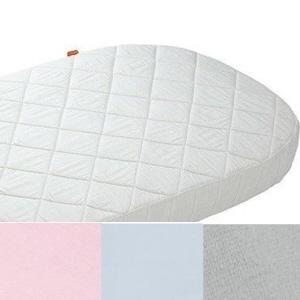9fbe46cd1b8 Hoeslaken Leander baby bed - ledikant - grijs, roze en licht blauw ...